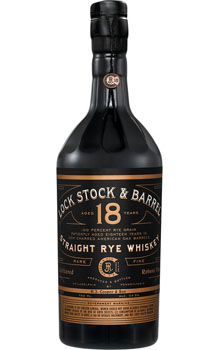 LOCK STOCK AND BARREL 18 YEAR RYE W