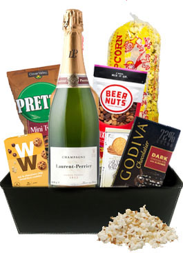 LAURENT PERRIER BRUT CHAMPAGNE GIFT BASKET
