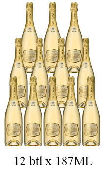 LUC BELAIRE BRUT GOLD - 187ML - 12 BOTTLES
