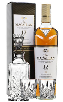 THE MACALLAN 12 YEAR OLD SINGLE MALT -750ML SHERRY OAK COLLABORATION GIFT SET