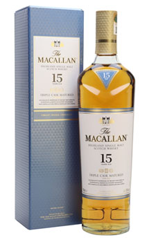 THE MACALLAN 15 YEAR OLD SINGLE MALT -750ML TRIPLE CASK MATURED