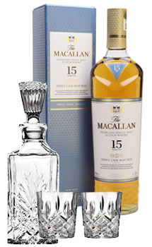 THE MACALLAN 15 YEAR OLD SINGLE MALT -750ML TRIPLE CASK MATURED COLLABORATION GIFT SET