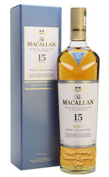 THE MACALLAN 15 YEAR OLD SINGLE MALT -750ML TRIPLE CASK MATURED - CUSTOM ENGRAVED