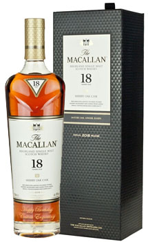 THE MACALLAN 18 YEAR OLD SINGLE MALT -750ML TRIPLE CASK - CUSTOM ENGRAVED