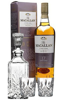 THE MACALLAN 17 YEAR OLD SINGLE MALT FINE OAK COLLABORATION GIFT SET