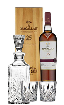 THE MACALLAN 25 YEAR OLD SINGLE MALT -750ML SHERRY OAK COLLABORATION GIFT SET