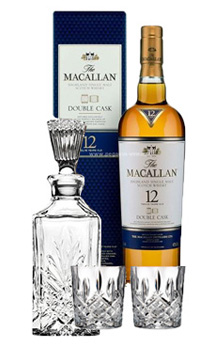THE MACALLAN 12 YEAR OLD SINGLE MALT -750ML DOUBLE CASK COLLABORATION GIFT SET