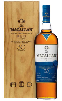 THE MACALLAN 30 YEAR OLD SINGLE -750ML MALT FINE OAK