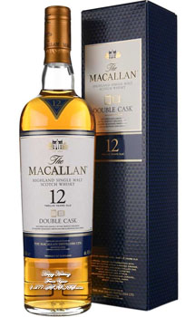 THE MACALLAN 12 YEAR OLD SINGLE MALT - 750ML DOUBLE CASK - CUSTOM ENGRAVED