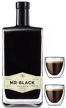 MR BLACK LIQUEUR COLD BREW COFFEE WITH 2 ESPRESSO SHOT GLASSES
