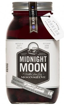 JUNIOR JOHNSON'S MIDNIGHT MOONSHINE BLACKBERRY MASON JAR