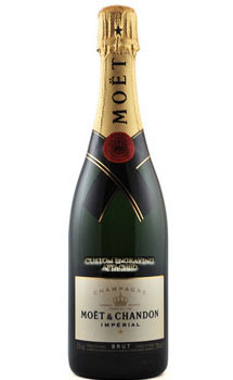 MOET & CHANDON IMPERIAL CHAMPAGNE CUSTOM ENGRAVED