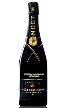 MOET & CHANDON NECTAR IMPERIAL CHAMPAGNE - CUSTOM ENGRAVED
