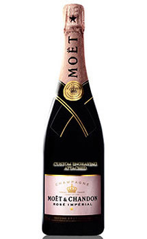 MOET & CHANDON ROSE IMPERIAL CHAMPAGNE - CUSTOM ENGRAVED