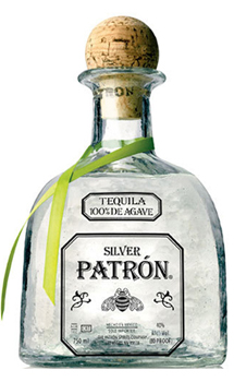 Patron Silver Tequila, Crystal clear and smooth tequila