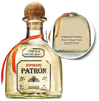 PATRON TEQUILA REPOSADO - CUSTOM ENGRAVED