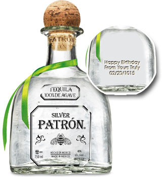 PATRON TEQUILA SILVER - CUSTOM ENGRAVED