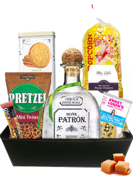Shake It Up Patron Tequila Gift Basket