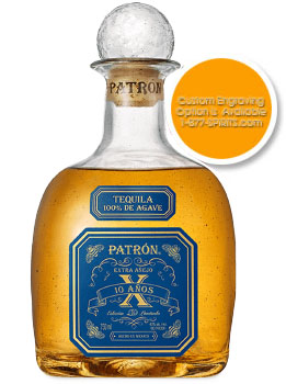 PATRON TEQUILA EXTRA ANEJO 10 ANOS - 750ML CUSTOM ENGRAVED