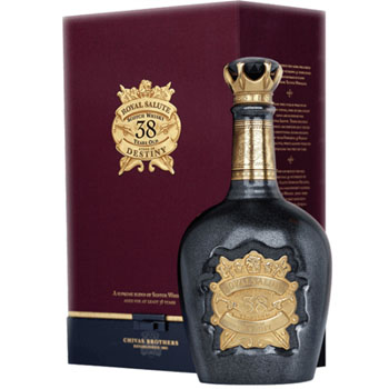 ROYAL SALUTE SCOTCH 38 YEAR STONE OF DESTINY