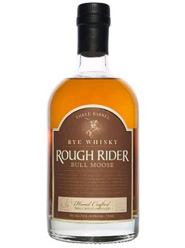 ROUGH RIDER RYE WHISKY THREE BARREL