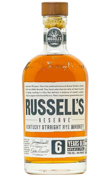 RUSSELL'S RSERVE RYE WHISKEY 6 YEAR