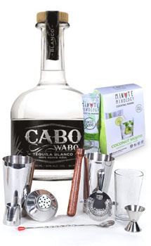 COCKTAIL MIX KIT WITH CABO WABO SILVER TEQUILA