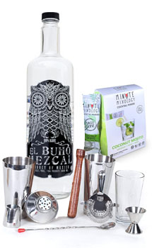 COCKTAIL MIX KIT WITH EL BUHO MEZCAL