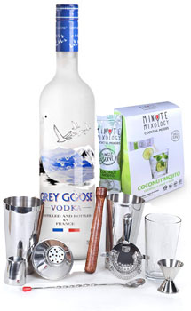 COCKTAIL MIX KIT WITH GREY GOOSE VODKA