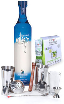 COCKTAIL MIX KIT WITH MILAGRO SILVER TEQUILA