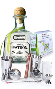COCKTAIL MIX KIT WITH PATRON SILVER TEQUILA