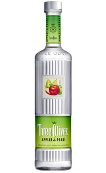 THREE OLIVES VODKA APPLES & PEARS
