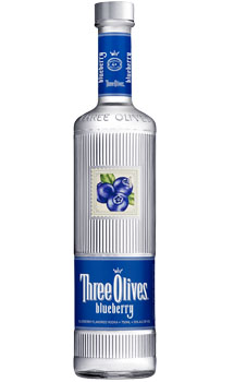 THREE OLIVES VODKA BLUEBERRY
