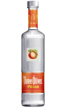 THREE OLIVES VODKA PEACH