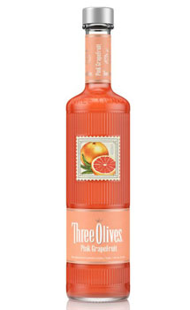THREE OLIVES VODKA PINK GRAPEFRUIT
