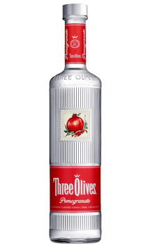 THREE OLIVES VODKA POMEGRANATE