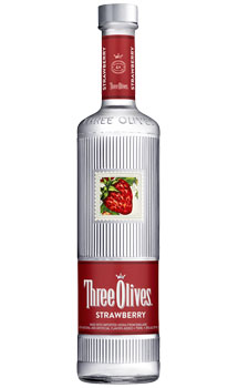 THREE OLIVES VODKA STRAWBERRY