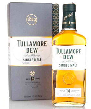TULLAMORE DEW IRISH WHISKEY SINGLE MALT 14 YEAR