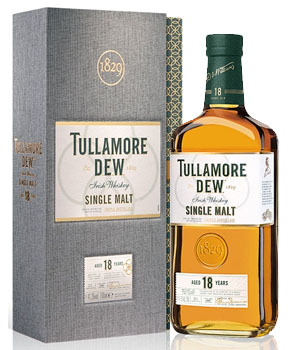 TULLAMORE DEW IRISH WHISKEY SINGLE MALT 18 YEAR