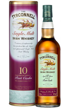 TYRCONNELL IRISH WHISKEY 10 YEAR PORT CASK FINISH