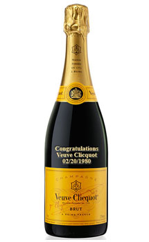 VEUVE CLICQUOT YELLOW LABEL CHAMPAGNE - CUSTOM ENGRAVED