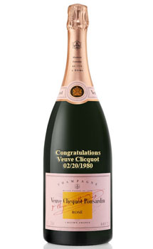 VEUVE CLICQUOT ROSE CHAMPAGNE - CUSTOM ENGRAVED