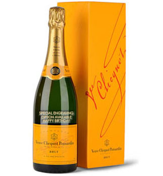 VEUVE CLICQUOT YELLOW LABEL CHAMPAG