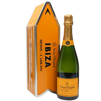VEUVE CLICQUOT ARROW TIN IBIZA REIMS CHAMPAGNE JOURNEY STREET SIGN - LIMITED EDITION