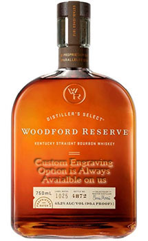 WOODFORD RESERVE BOURBON - CUSTOM ENGRAVED