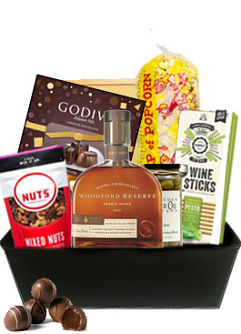 WOODFORD RESERVE BOURBON DOUBLE OAKED BOURBON GIFT BASKET
