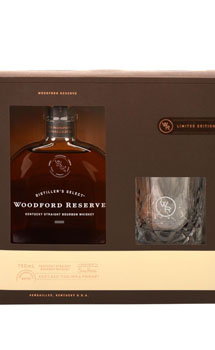 WOODFORD RESERVE BOURBON GIFT SET WITH ONE BOURBON GLASS