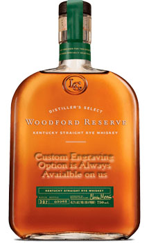 WOODFORD RESERVE BOURBON RYE DISTILLER'S SELECT - CUSTOM ENGRAVED