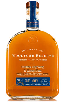 WOODFORD RESERVE MALT WHISKEY DISTILLER'S SELECT - CUSTOM ENGRAVING