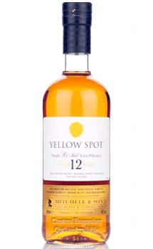 YELLOW SPOT 12 YEAR OLD POT STILL IRISH WHISKEY CUSTOM ENGRAVED